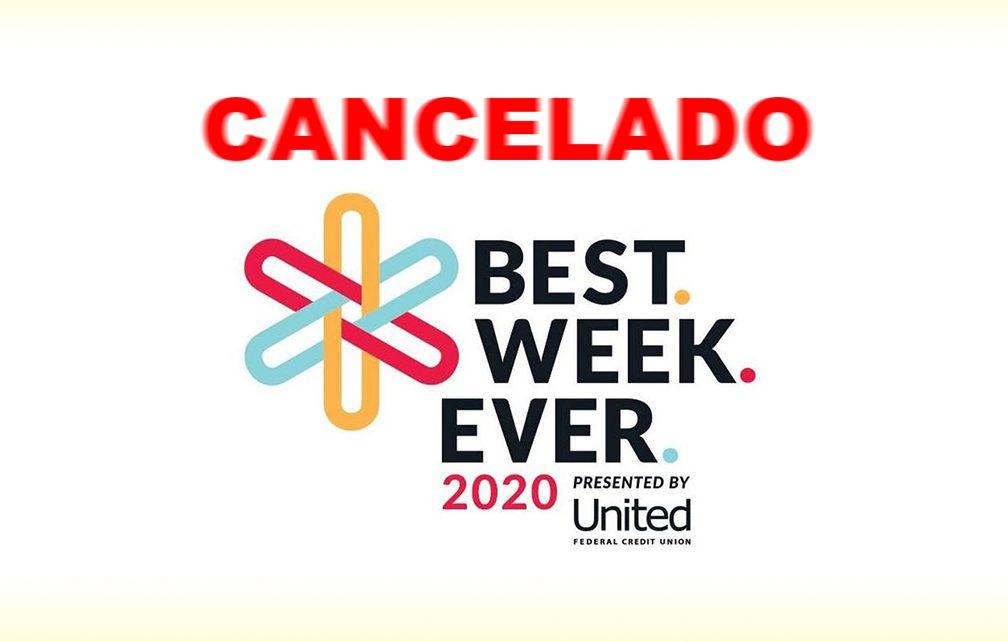 Se cancela Best. Week. Ever. por incremento de casos de COVID-19 en South Bend